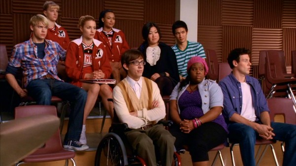 Comprising three-quarters of William McKinley High School's Glee Club in Season 2: Sam (Chord Overstreet), Brittany (Heather Morris), Quinn (Dianna Agron), Santana (Naya Rivera), Artie (Kevin McHale), Tina (Jenna Ushkowitz), Mike Chang (Harry Shum Jr.), Mercedes (Amber Riley), and Finn (Cory Monteith).