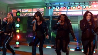 Check out this girl power! New Directions' females rock out with a mash-up of The Rolling Stones and Bon Jovi.