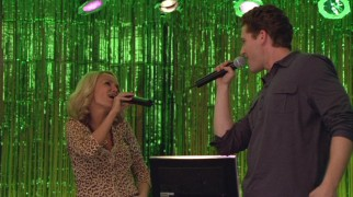 Will (Matthew Morrison) lives out his high school dream of performing with April (Kristin Chenoweth), though a karaoke bar probably wasn't what he had in mind.