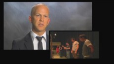 Creator/writer/director/producer Ryan Murphy discusses the purpose of songs in the narrative as we see B-roll footage of the actors rehearing.