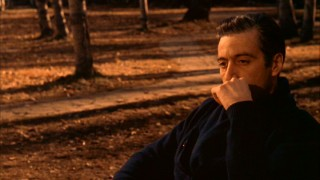 "Michael Corleone sits and reflects in the powerful closing shot of ""The Godfather Part II."""