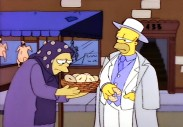 "Homer Simpson is treated like Part II Vito Corleone in this Simpsons clip, one of many excerpts of homages, tributes, and references seen in ""Godfather World."""