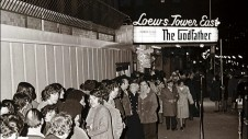 "A long ticket line for The Godfather extends down 72nd Street outside the Loew's Tower East theater in this still from ""The Masterpiece That Almost Wasn't."""