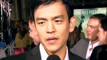 John Cho (Harold of Harold & Kumar) is one of the young people singing The Godfather's praises on the red carpet of the Cloverfield premiere.