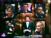 It's Coppola vs. Coppola (and Evans, Allen, and Worth) as Warren Beatty announces the 1974 Best Picture Oscar.