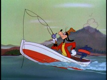"Goofy takes to the water in ""How to Fish."""