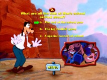 "The design and the questions are both simple in the ""Goofy Movie"" trivia game."