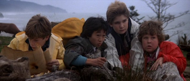 Armed with a 300-year-old treasure map and the desire to save their homes, best friends Mikey (Sean Astin), Data (Ke Huy Quan), Mouth (Corey Feldman) and Chunk (Jeff Cohen) set off on the adventure of a lifetime.