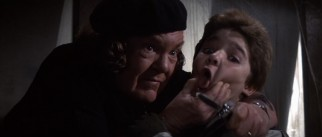 Mama Fratelli (Anne Ramsey) claims her restaurant only serves tongue, something Mouth (Corey Feldman) has plenty of.