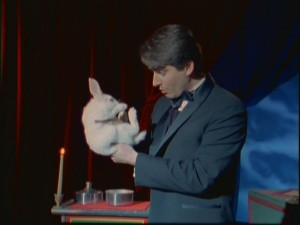 What's a magic show without a magician like Amaz-O (Mike Carbone) humiliating a defenseless rabbit?