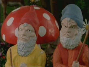 Unfortunately for our protagonists, neither of these creepy gnomes is named David nor works for Travelocity.