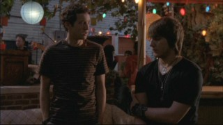 In a rare moment in the series, Rusty (Jacob Zachar) tells off Cappie (Scott Michael Foster) when Kappa Tau policies go against his standards.