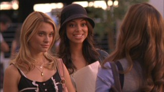 Casey (Spencer Grammer) and Ashleigh (Amber Stevens) try their best not to let Frannie's (Tiffany Dupont) predictable attitude get the best of them.