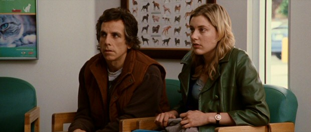 Roger (Ben Stiller) and Florence (Greta Gerwig) wait to be seen by the veterinarian regarding immunally-challenged dog Mahler.