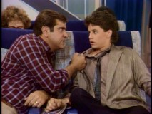 On a plane bound for Boston, Mike gets some stern life advice from an expecting father (Dan Lauria) who looks just like his Season 1 hockey coach.