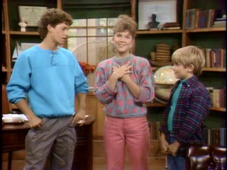 The three Seaver children -- Mike (Kirk Cameron), Carol (Tracey Gold), and Ben (Jeremy Miller) -- deny responsibility for the source of their parents' Bill Paying Day aggravation.