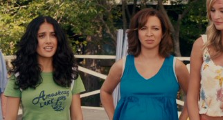 Though not as focal as the guys, the wives (including Salma Hayek Pinault and Maya Rudolph) do get a decent amount of material.