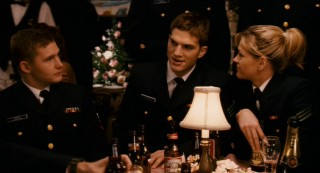 Jake (Ashton Kutcher) boasts to his fellow recruits of his lady-wooing skills.
