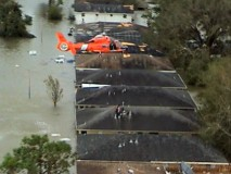 "Footage of real Coast Guard officers at work during Hurricane Katrina is seen in ""Unsung Heroes: So Others May Live."""
