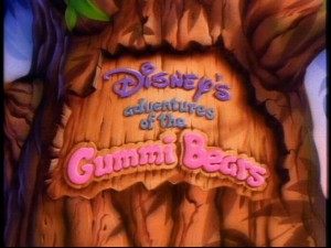"The title logo for ""Disney's Adventures of the Gummi Bears"", as it appears beginning in Season 2."