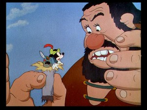 """Hey, there's a Mickey in my dope!"", says the surprised bearded giant."