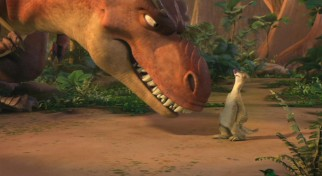 The T-rexes' birth mother and their adopted mother Sid (John Leguizamo) only see eye-to-eye in the physical sense as both have conflicting opinions over how to raise their young.