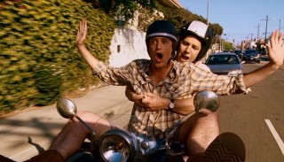 Carefree times, like a hands-free Vespa ride, are in order for new best friends Sydney (Jason Segel) and Peter (Paul Rudd).