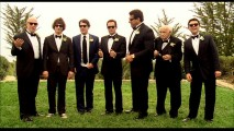 Peter and his strange collection of groomsmen work with the photographer in this short deleted scene.