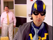 "Self-appointed superhero The Revenger learns the truth from his stepdad/boss in a ""Power"" sketch."