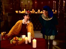 "Fellow ""Daily Show"" correspondent John Oliver guest-stars up in two episodes. Here in ""Safety"", he plays a king who sees through his royal taster's shrewd scheme."