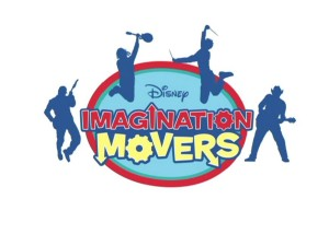 "Despite the abundance of color in the show itself, the ""Imagination Movers"" logo goes for a more understated approach."