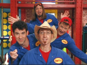 The Imagination Movers need you to help them with their brainstorming. Luckily, they don't pause to let you deny the offer à la other preschool shows.