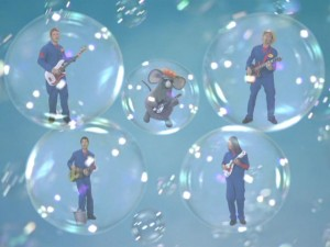 The Movers and Warehouse Mouse perform a bubbly number even with Rich's foot in a bucket.