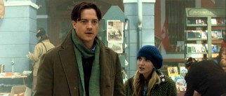 Bookbinder Mortimer Folchart (Brendan Fraser) and his daughter Meggie (Eliza Hope Bennett) are in this snowy town to check out an old bookshop.