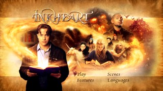 Inkheart's ordinary DVD main menu makes me think of one of my favorite songs. Sing everybody... Take a look, it's in a book, with Brendan Fraser (Brendan Fraser)!