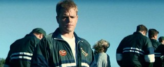 On a team visit to a shuttered Robben Island prison, Pienaar (Matt Damon) is moved by imagining what life was like for the future president Mandela there.