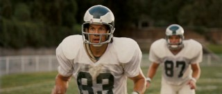 Here he is, Mark Wahlberg (formerly known as Marky Mark, of Funky Bunch fame) plays Vince Papale, suited up in Eagles garb.