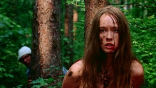 In the backwoods of Connecticut, Jennifer (Camille Keaton) is savagely terrorized by four lowlifes.