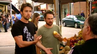 Mac (Rob McElhenney) is bothered to learn that Charlie's (Charlie Day) first pear experience isn't a pleasant one at their road trip stop to the local Italian market.