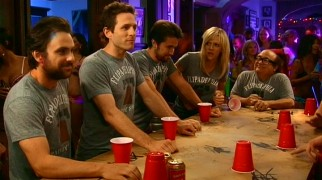 It may not be Flip, Flip, Flipadelphia, but the Paddy's gang still gets to enjoy a high-stakes game of flip cup.