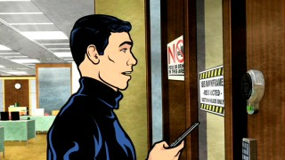 "ISIS spy Sterling Archer breaks into his workplace to wipe out his frivolous expense account record in the included pilot to FX's animated comedy ""Archer."""