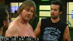 "As frightening amateur wrestler Da Maniac, guest star ""Rowdy"" Roddy Piper listens to the guys' patriotic plans in this amusing deleted scene."