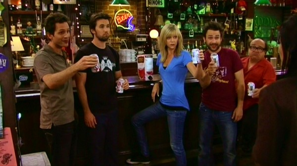 After Frank's failed intervention, the gang offers a toast in cola cans filled with boxed wine.