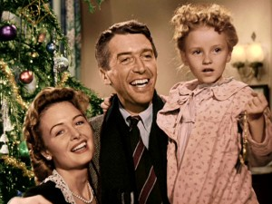"The Christmas tree is green, Zuzu's dress pink, and the walls tan in Disc 2's colorized version of ""It's a Wonderful Life."""