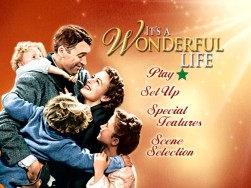 "This main menu might look familiar, it's been used on every Paramount DVD release of ""It's a Wonderful Life."""
