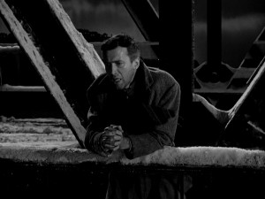 Ordinarily not a praying man, George Bailey asks for a little divine guidance on a snowy Christmas Eve night.
