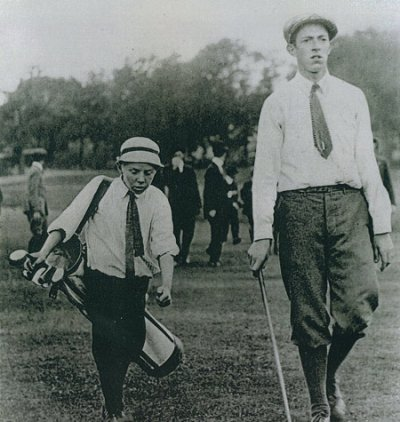 Francis Ouimet and his caddie
