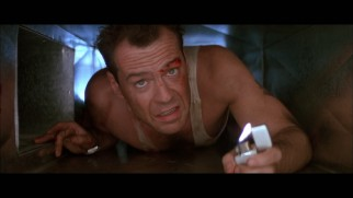 """Maximum McClane"" recalls the better times in the Die Hard franchise like this lighter-lit crawl through the vents from the first film."