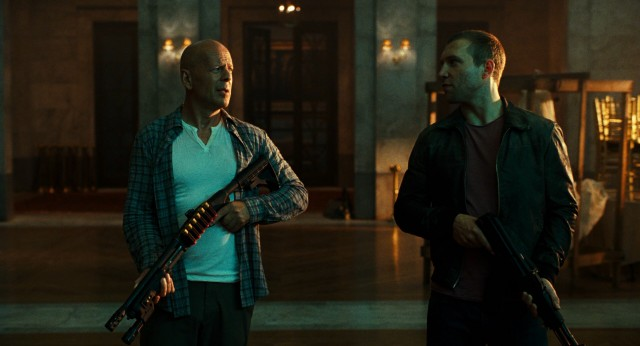 """A Good Day to Die Hard"" puts father (Bruce Willis) and estranged son (Jai Courtney) on a Moscow adventure."