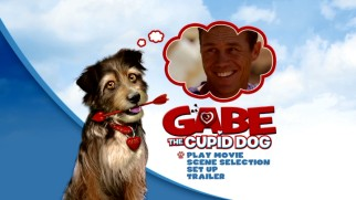 The DVD main menu shows Gabe the Cupid Dog thinking about his Dad, Brian Krause.